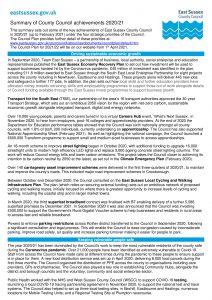 escc summary of achievements 2020 21 p 1