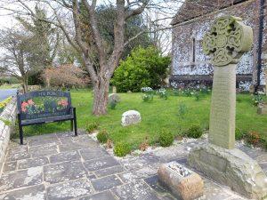 War memorial and bench