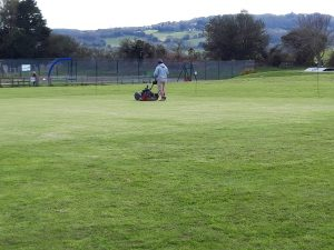 getting the strip ready for the cricket season to start