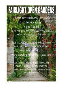 fairlight open gardens 2021 poster