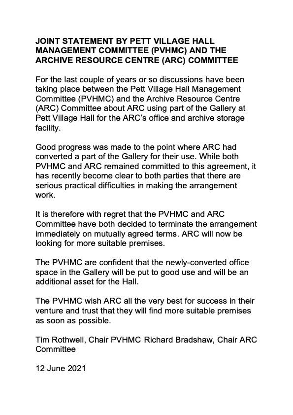 public statement final pvhmc and arc