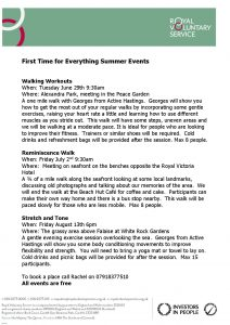 summer first time for everything events