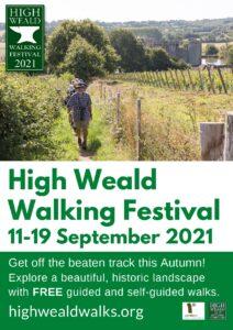 A4 High Weald Walking Festival poster