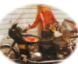 vic glazier with motor bike